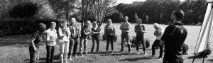 Haka Workshop uitleg tijdens heidag activiteit